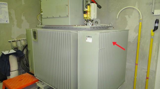 Transformateur 1000 kVA présentant un défaut d'isolement sur un bobinage HTA – phase A