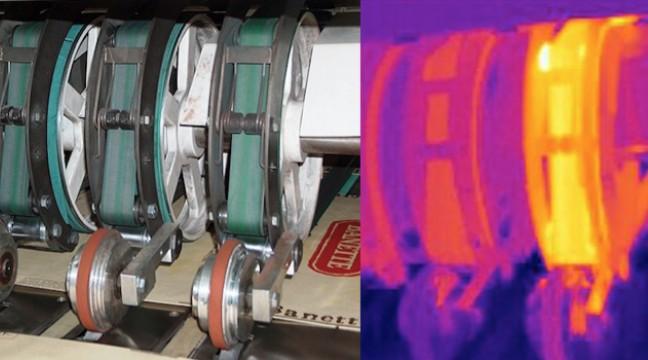 La détection d'un palier défectueux sur un tendeur de courroie permet d'éviter un arrêt de production intempestif