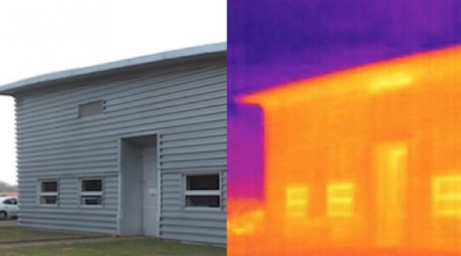 Contrôle de l'isolation thermique d'un bâtiment industriel lors d'un diagnostic thermique