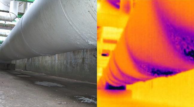 Inspection de canalisations calorifugées contenant du gaz liquéfié en vue d'une campagne de réfection du calorifuge
