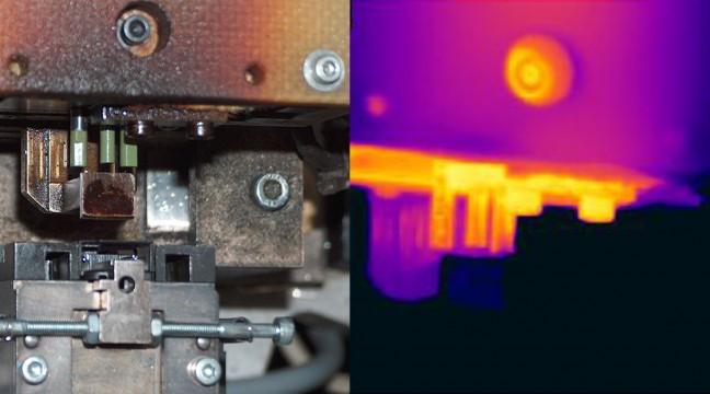 Contrôle de la température d'un outillage sur une machine de fabrication