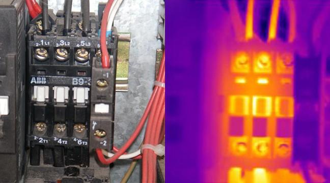 Exemple de défaut détecté en BASSE TENSION : Vieillissement du contacteur (charbonnage d'un pôle)